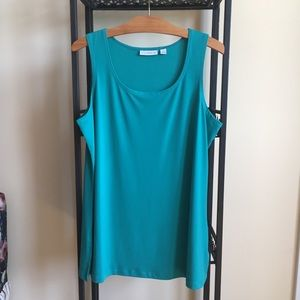 Susan Graver Liquid Knit Sleeveless Tunic - M